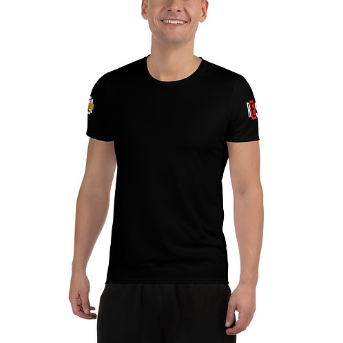 LUSU Designs Men's Athletic T-shirt Results Fire 2 Label III