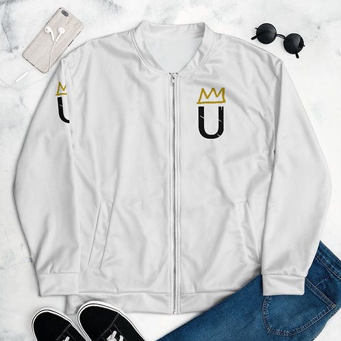 LUSU Designs Unisex Bomber Jacket Collection Black Logo Label II