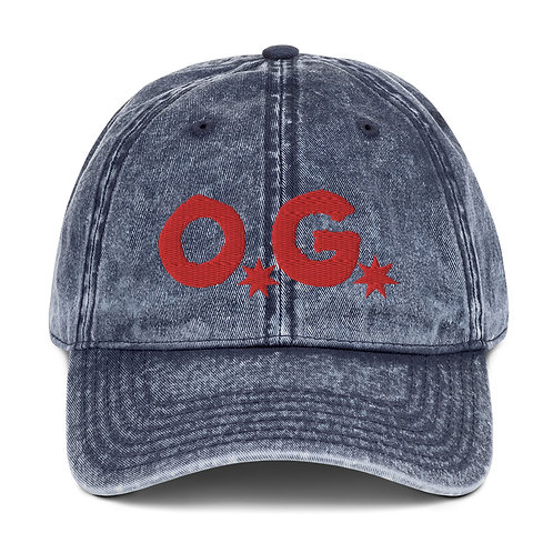 LUSU Designs Vintage Cotton Twill Cap Collection OG Fire Label