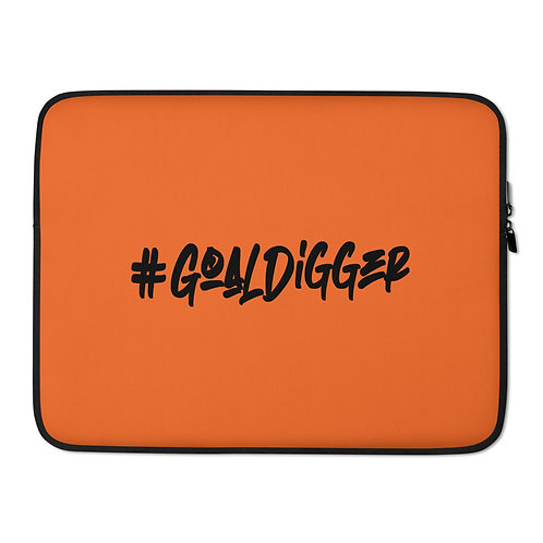LUSU Designs Laptop Sleeve Collection Goaldigger Noir Label Orange