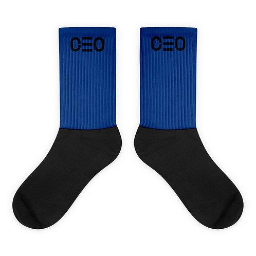 LUSU Designs Sock Collection CEO Noir Label Blue