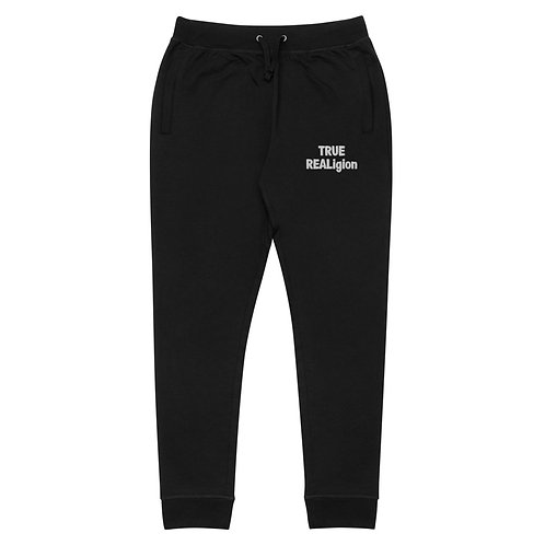 LUSU Deisgns Unisex Skinny Joggers True REALigion Blanco Label