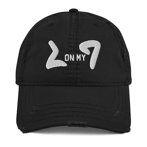 LUSU Designs Distressed Dad Hat Collection On My Square Blanco Label