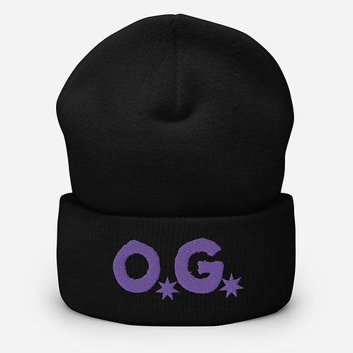 LUSU Designs Cuffed Beanie Collection O.G Purple Label