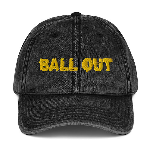 LUSU Designs Vintage Cotton Twill Cap Collection Ball Out Midas Label