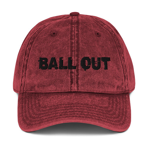 LUSU Designs Vintage Cotton Twill Cap Collection Ball Out Noir Label