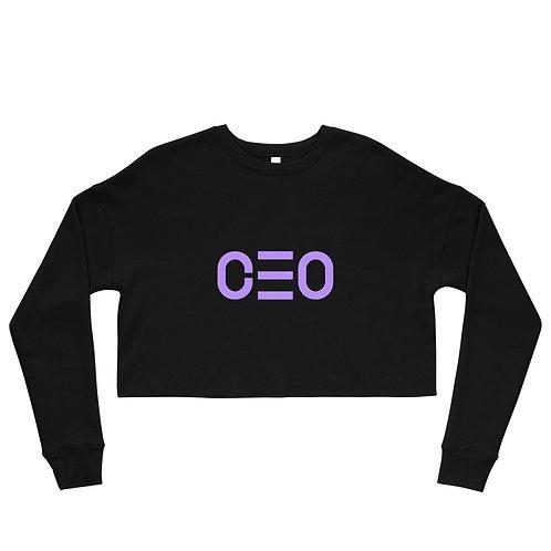 LUSU Designs Crop Sweatshirt Collection CEO Purple Label