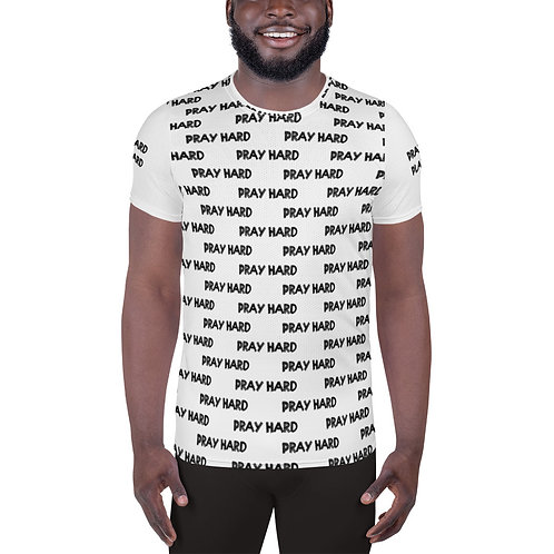 LUSU Designs Men's Athletic MaxDri T-shirt Pray Hard Play Hard Noir Label IV