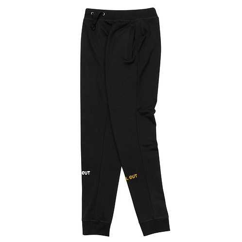 LUSU Deisgns Unisex Skinny Joggers Ball Out Combo Label