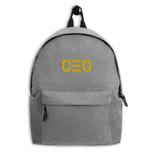 LUSU Designs Embroidered Backpack Collection CEO Midas Label