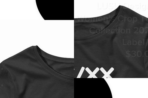 LUSU Designs Women's Crop Tee Collection 2020 Label IV