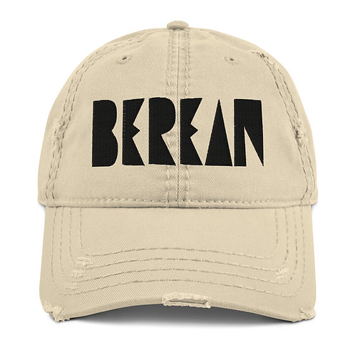 LUSU Designs Distressed Dad Hat Collection Berean Noir Label