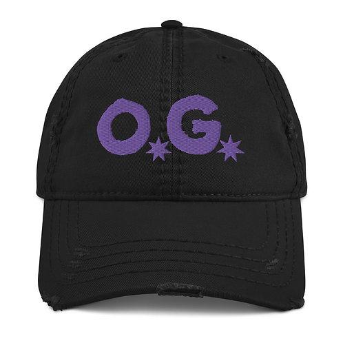 LUSU Designs Distressed Dad Hat Collection OG Purple Label