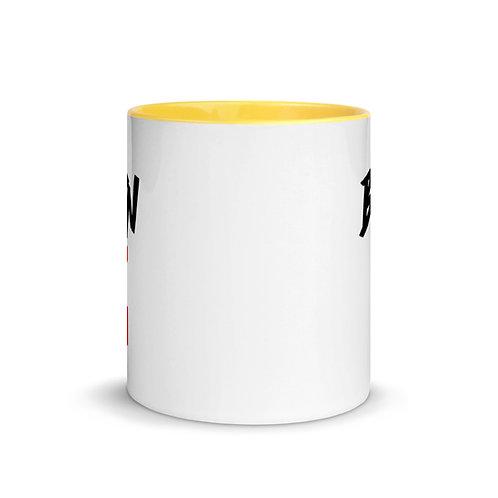 LUSU Designs Mug with Color Inside Collection Born Ready Label II