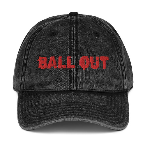 LUSU Designs Vintage Cotton Twill Cap Collection Ball Out Fire Label