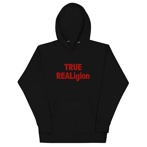 LUSU Designs Unisex Hoodie Collection True REALigion Fire Label I