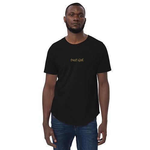 LUSU Designs Men's Curved Hem T-Shirt Collection Trust God. Midas Label
