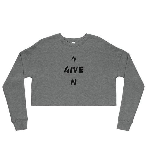 LUSU Designs Crop Sweatshirt Collection 4GIVEN Noir Label