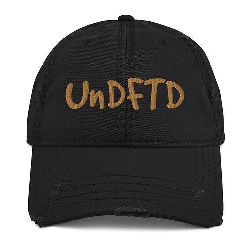 LUSU Designs Distressed Dad Hat Collection UnDFTD Gold Label II