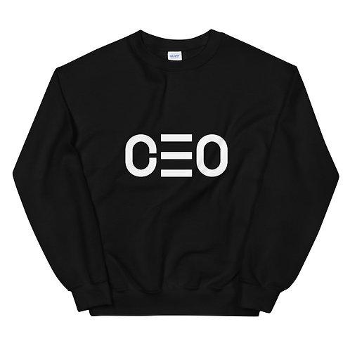 LUSU Designs Unisex Sweatshirt Collection CEO Blanco Label
