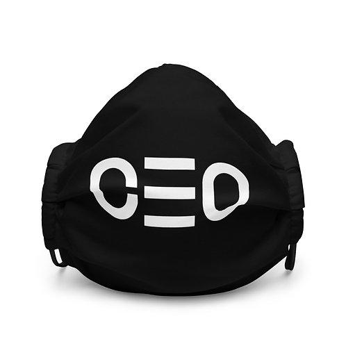 LUSU Designs Premium Face Mask CEO Blanco Label I