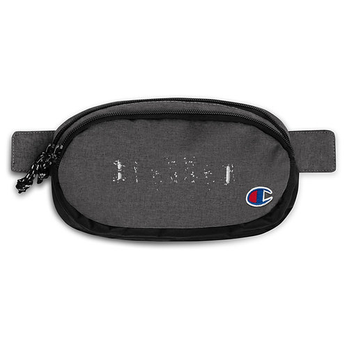 LUSU Champion Fanny Pack Blessed Blanco Label