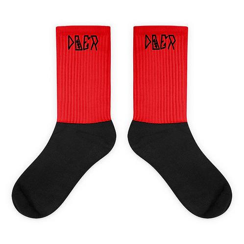 LUSU Designs Sock Collection Doer Noir Label Red