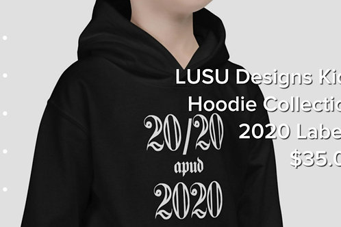 LUSU Designs Kids Hoodie Collection 2020 Label I