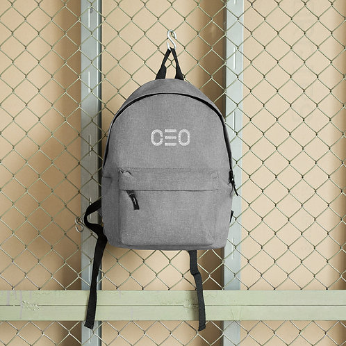 LUSU Designs Embroidered Backpack Collection CEO Blanco Label