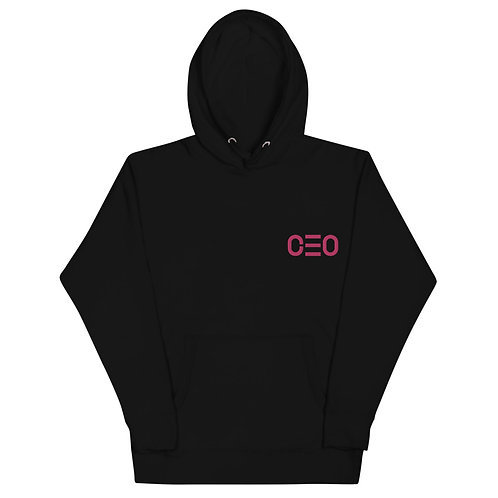 LUSU Designs Unisex Hoodie Collection CEO 2 Flamingo Label