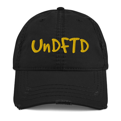 LUSU Designs Distressed Dad Hat Collection UnDFTD Gold Label