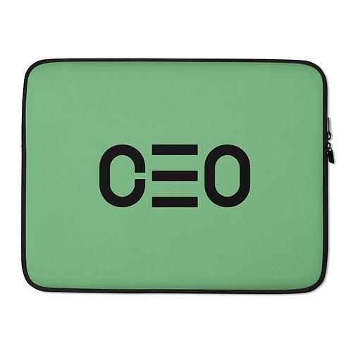 LUSU Designs Laptop Sleeve Collection CEO Noir Label Green