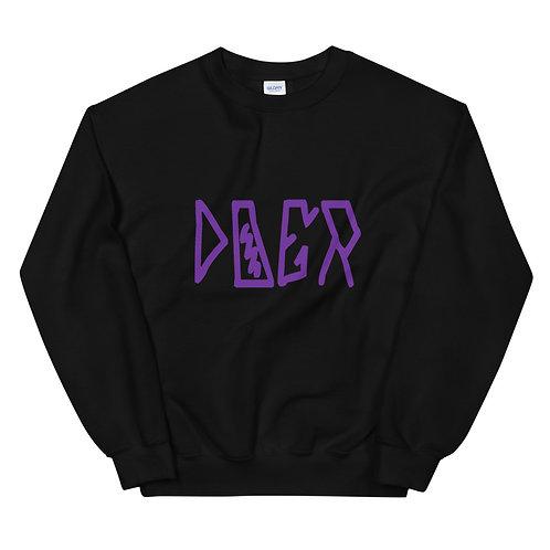 LUSU Designs Unisex Sweatshirt Collection Doer Purple Label