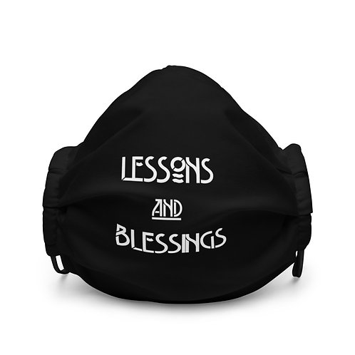 LUSU Designs Premium Face Mask Collection Lessons & Blessings Blanco Label I