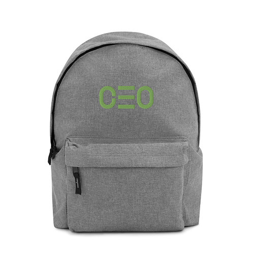 LUSU Designs Embroidered Backpack Collection CEO Harlequin Label