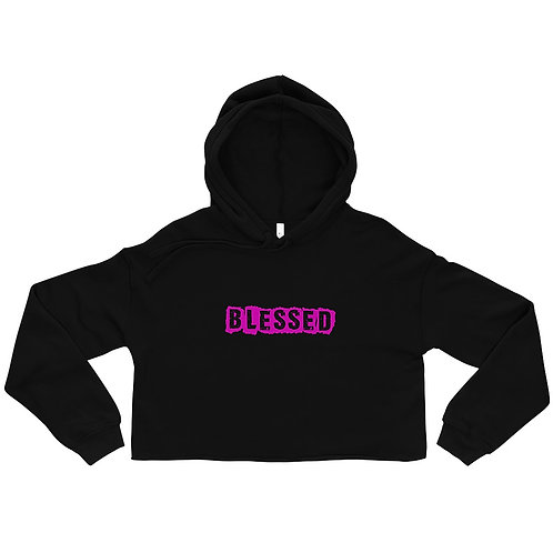 LUSU Designs Crop Hoodie Collection Blessed Flamingo Label