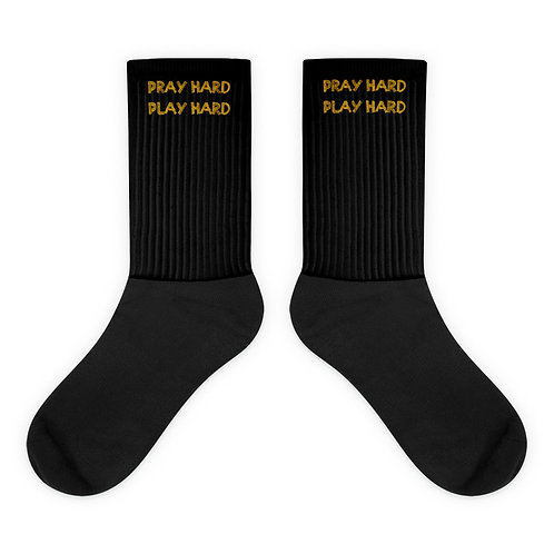 LUSU Designs Socks Collection Pray Hard Play Hard Midas Label IX