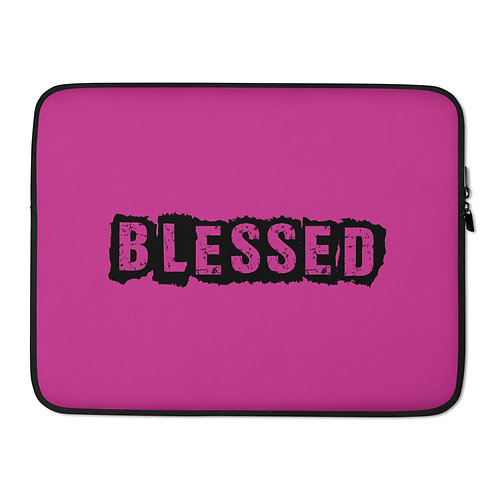 LUSU Designs Laptop Sleeve Collection Blessed Noir Label Pink