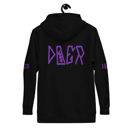 LUSU Designs Unisex Hoodie Collection Doer Purple Label II