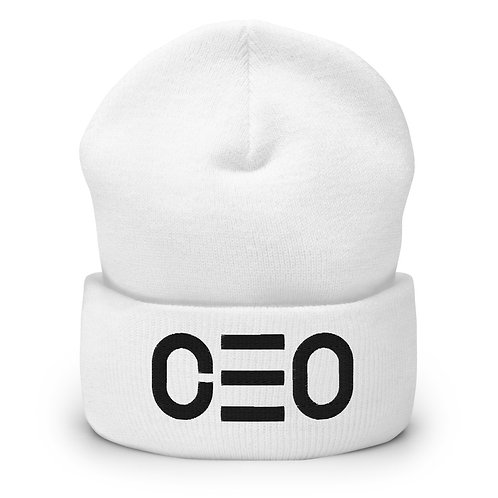 LUSU Designs Cuffed Beanie Collection CEO Noir Label