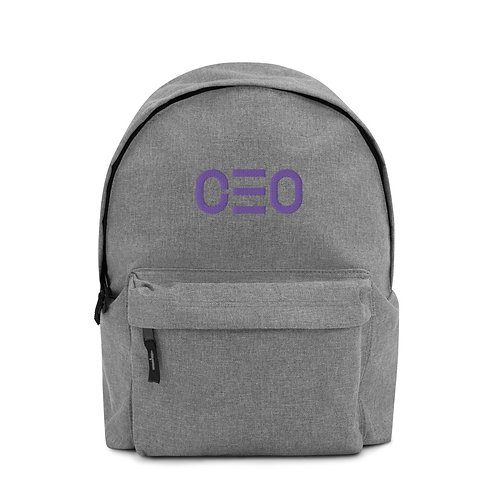LUSU Designs Embroidered Backpack Collection CEO Lavender Label
