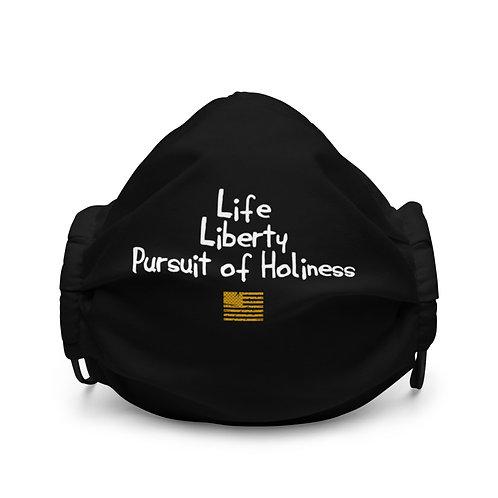 LUSU Designs Premium Face Mask Pursuit of Holiness Label I