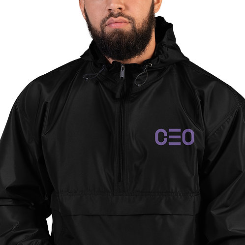 LUSU Designs Embroidered Packable Jacket Collection CEO Purple Label