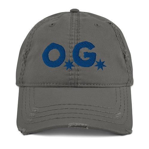 LUSU Designs Distressed Dad Hat Collection OG Royal Label