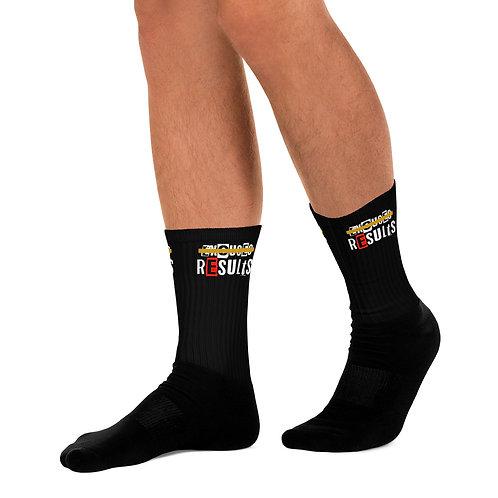 LUSU Designs Sock Collection Results Label Black