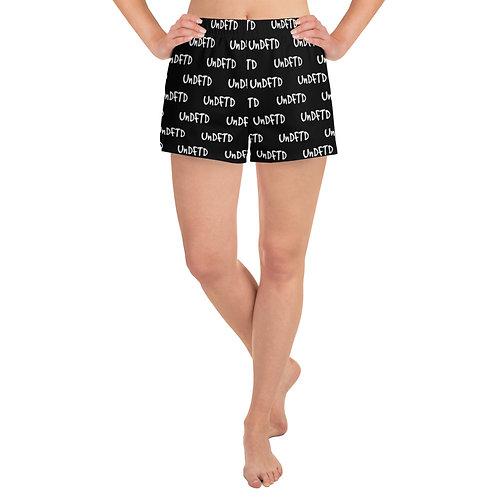 LUSU Designs Women's Athletic Short Shorts UnDFTD Blanco Label V
