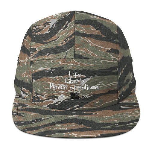 LUSU Designs Five Panel Cap Collection Pursuit of  Holiness Blanco Label