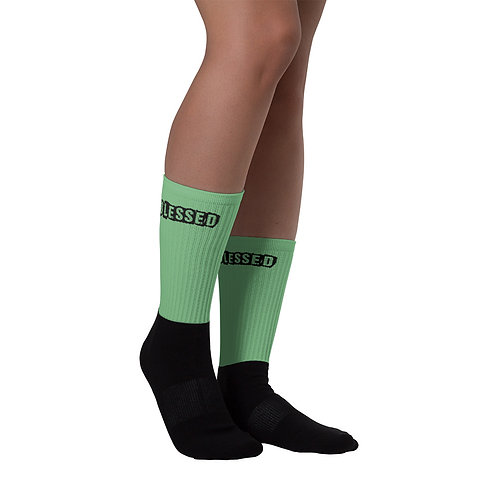 LUSU Designs Sock Collection Blessed Noir Label Green