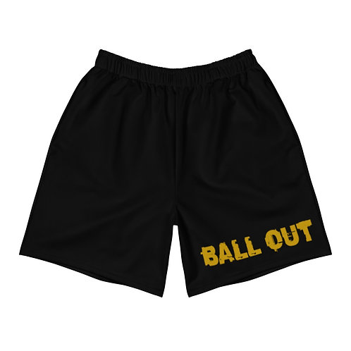 LUSU Designs Men's Athletic Long Shorts Collection Ball Out Label III