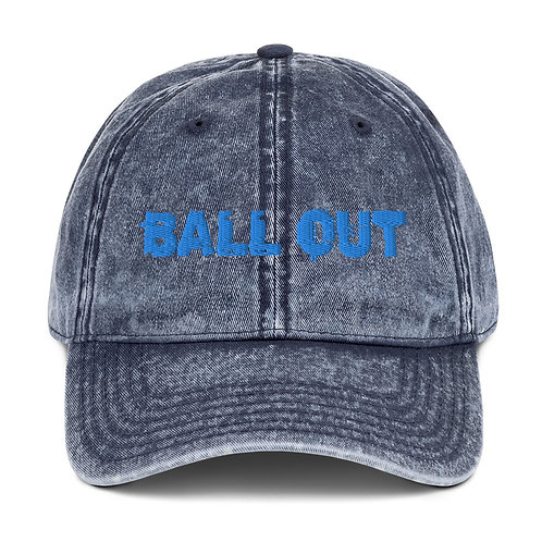 LUSU Designs Vintage Cotton Twill Cap Collection Ball Out Azure Label
